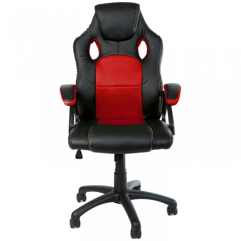 Kancelářská židle Racing design | červeno-černá