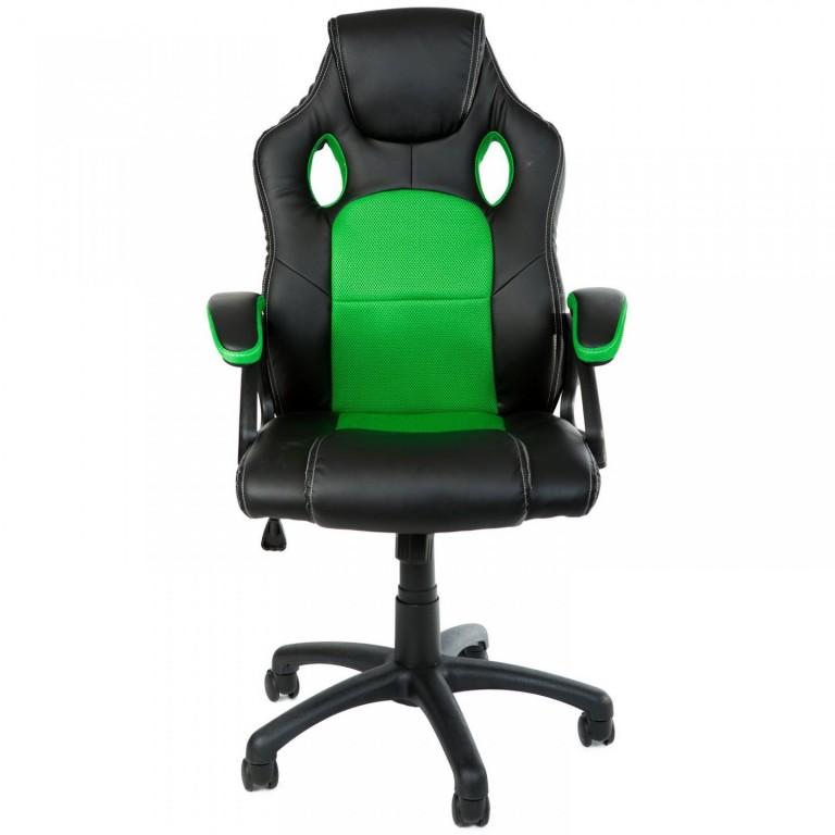 Kancelářská židle Racing design | zeleno-černá