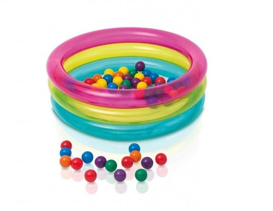 Dětský bazén Intex s míčky