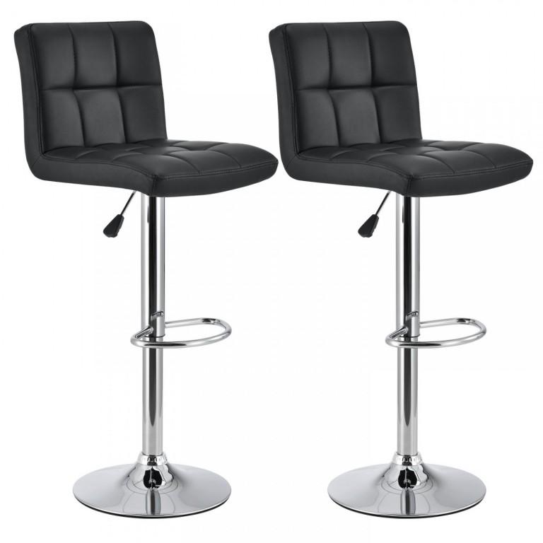 2x Barová židle Jolly | černá