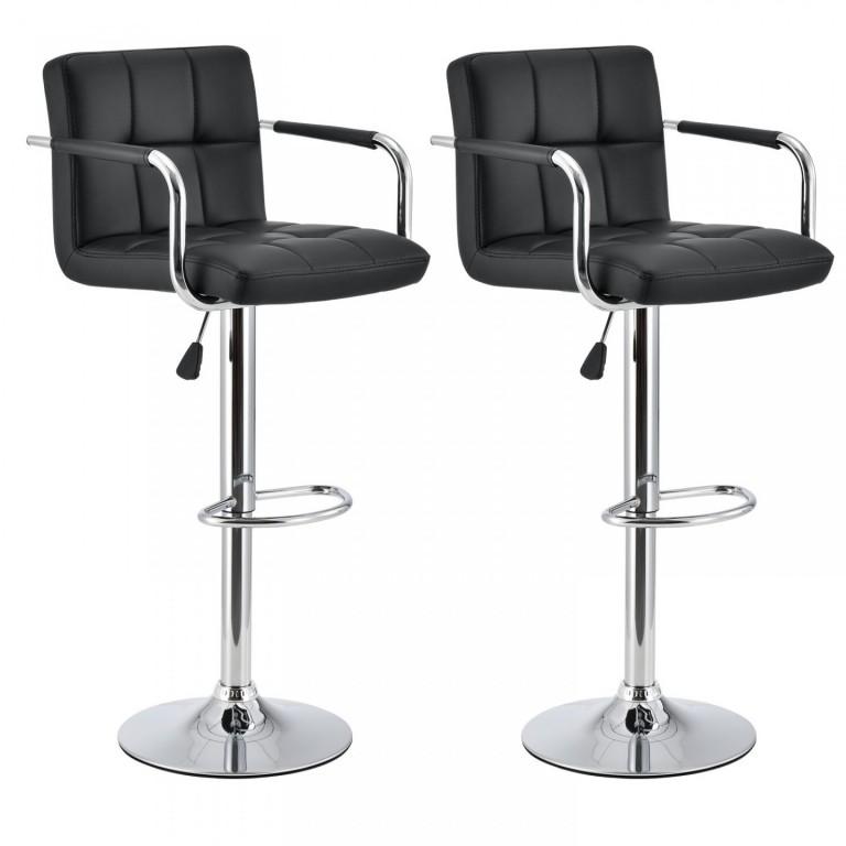 2x Barová židle Flona | černá
