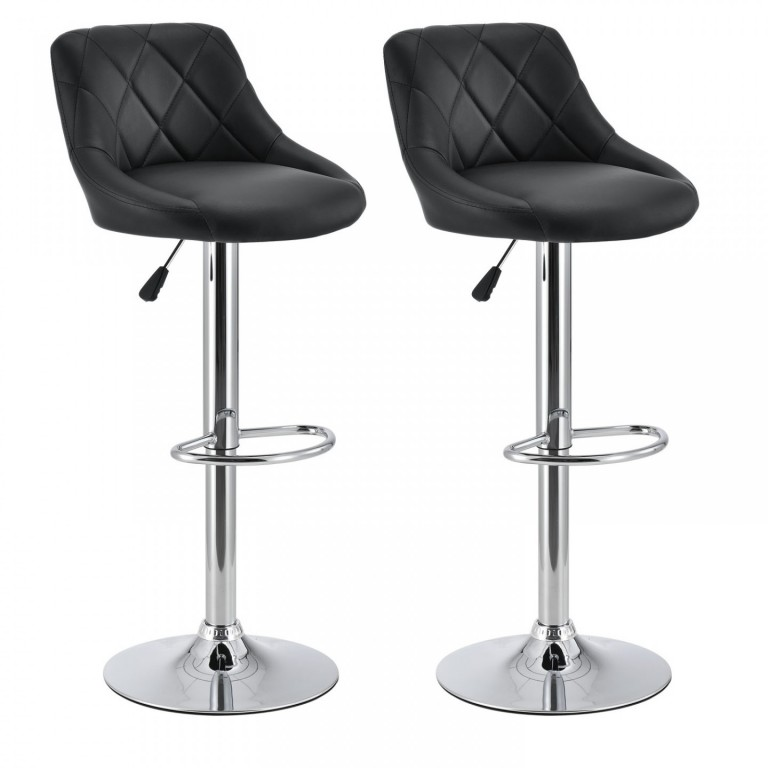 2x Barová židle Venus | černá