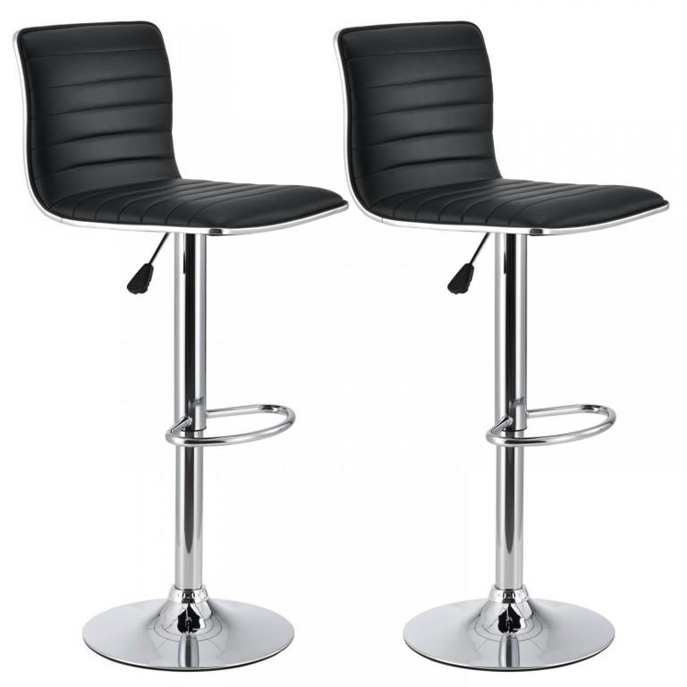 2x Barová židle Kalea | černá