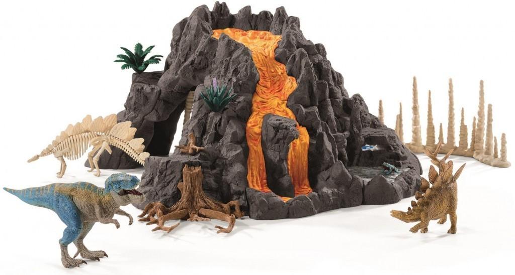 Schleich 42305 Velká sopka s dinosaurem