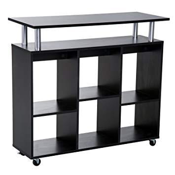 Pojízdná kuchyňská skříňka Olivia | černá