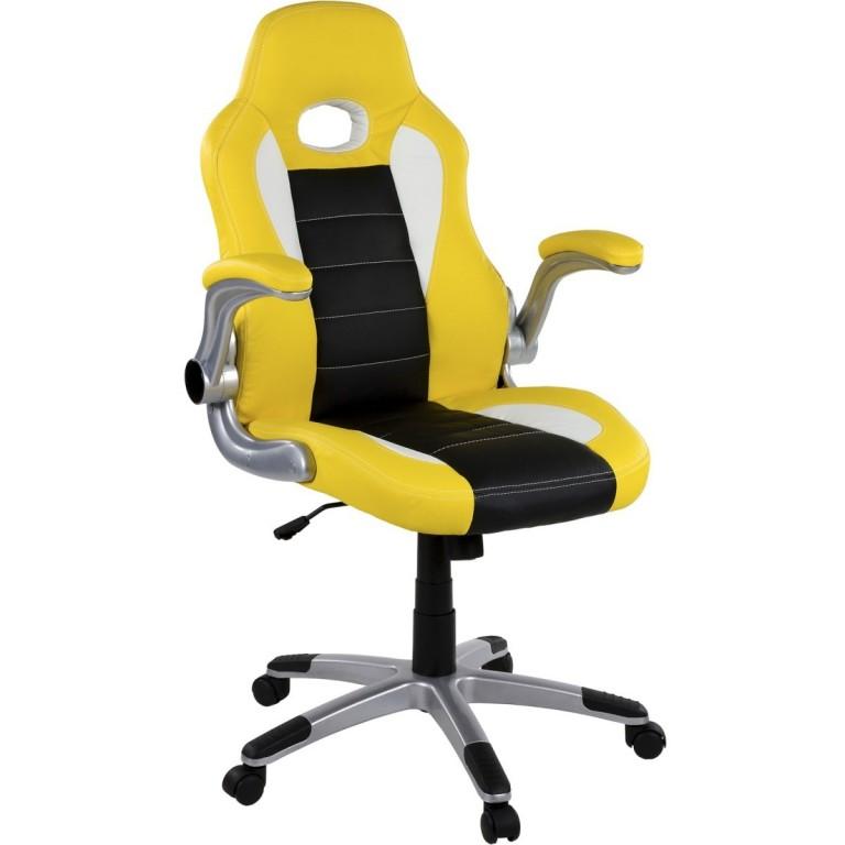 Kancelářská židle GT Series One | žluto-černo-bílá