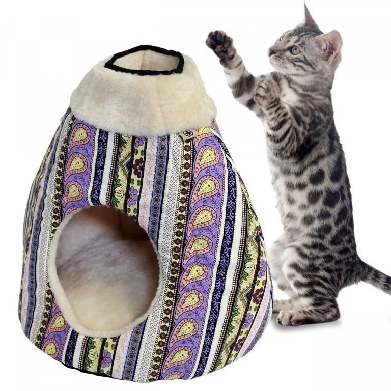 Pelíšek pro kočky Luna 40 x 35 x 40 cm