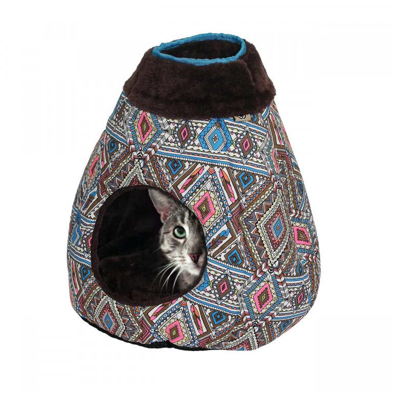 Pelíšek pro kočky Nero 40 x 35 x 40 cm