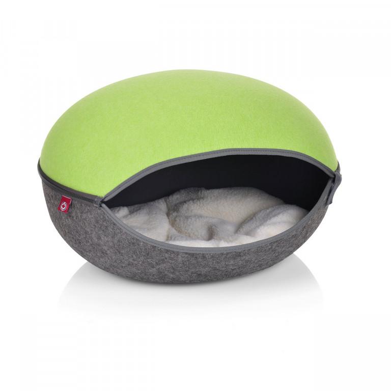 Pelíšek pro kočky | zelená/antracit