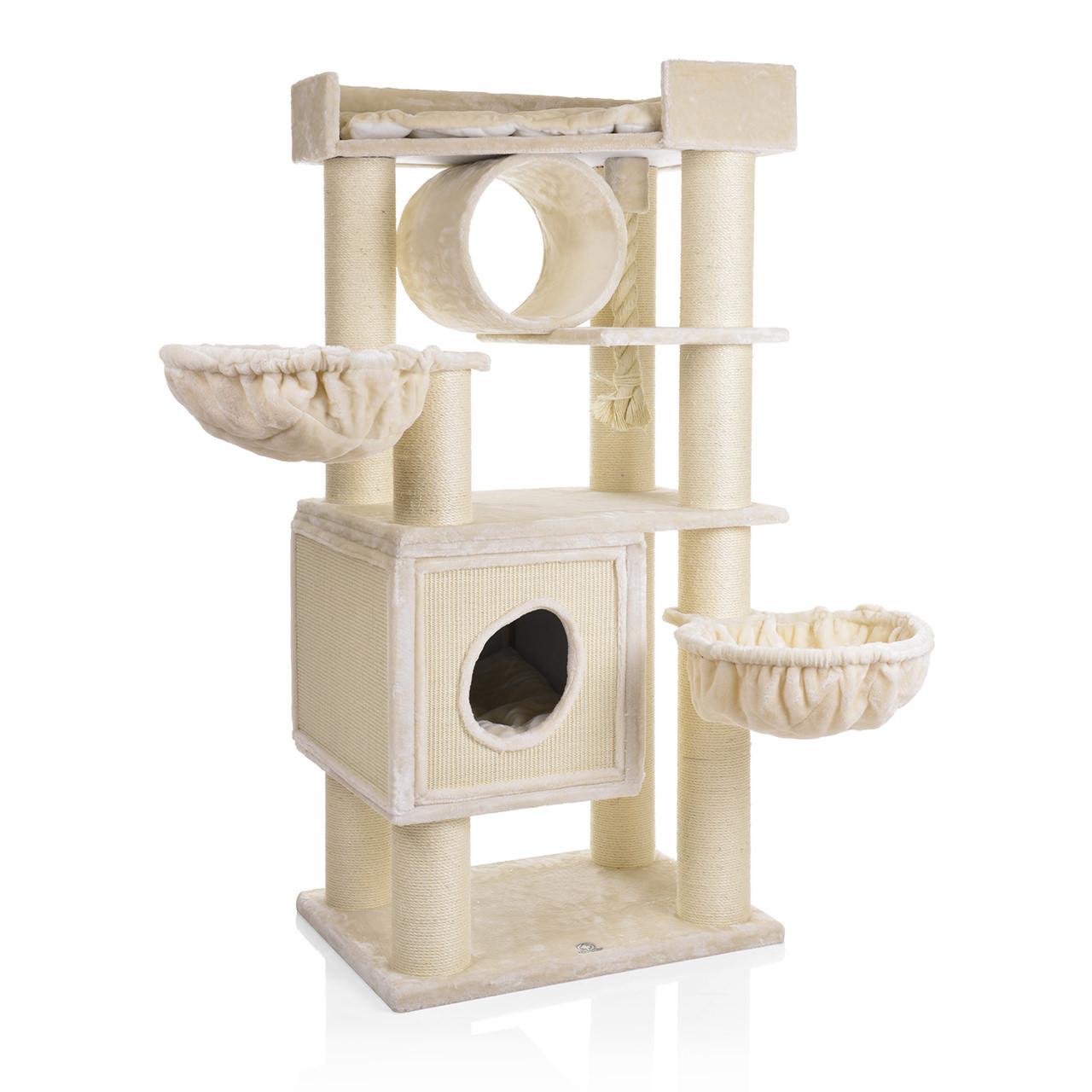 Goleto Luxusní škrabadlo pro kočky Victoria 2 | béžové