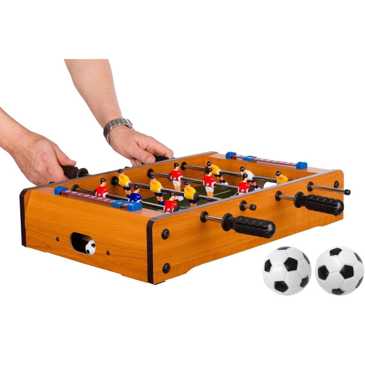 Mini stolní fotbal fotbálek 51x31x8 cm | světlý