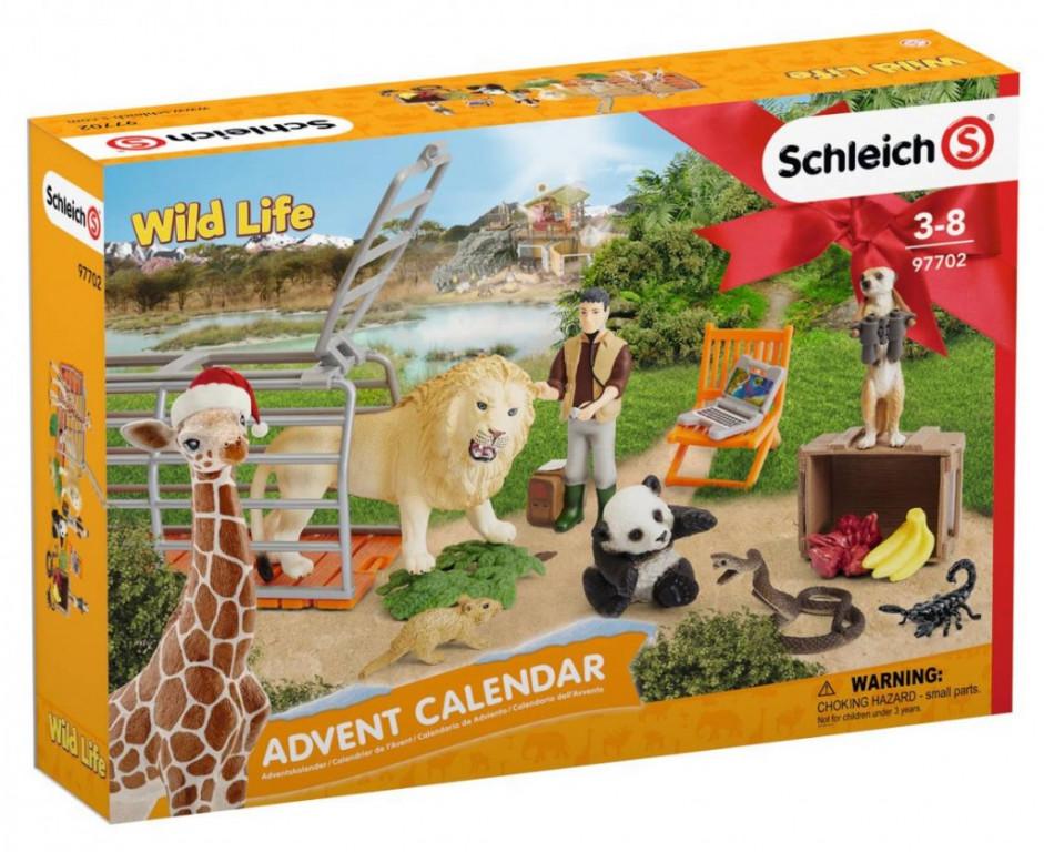 Schleich 97702 Adventní kalendář Divoká zvířata