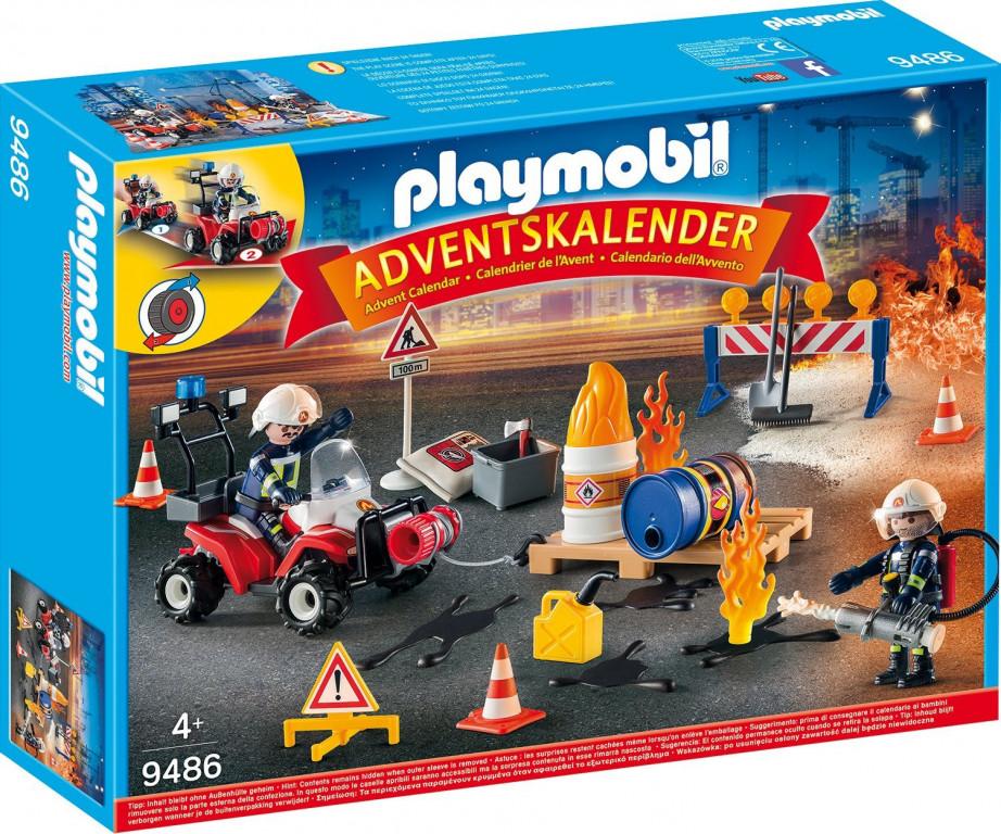 Adventní kalendář Playmobil 9486 Zásah hasičů