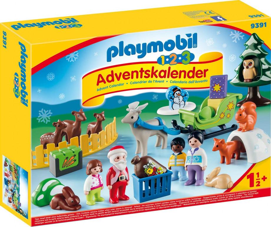 Adventní kalendář Playmobil 9391 Vánoce v lese 1.2.3