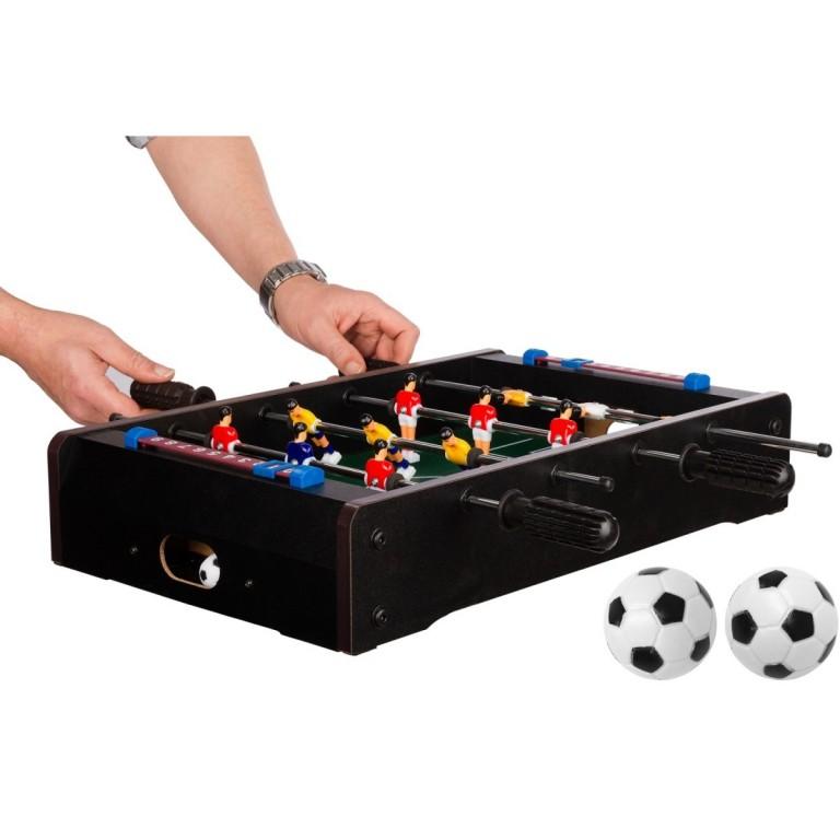 Mini stolní fotbal fotbálek 51x31x8 cm, černý