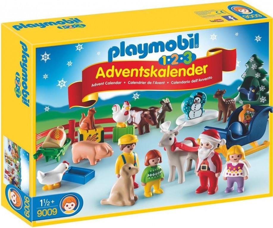 Adventní kalendář Playmobil 9009 Vánoce na statku 1.2.3