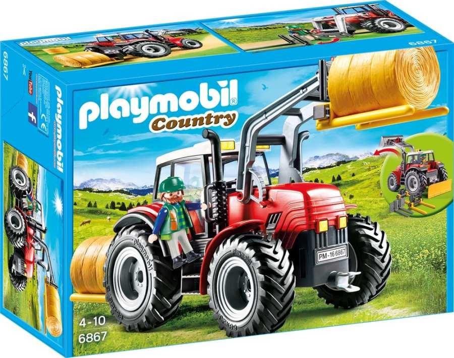 Playmobil 6867 Velký traktor se sběračem balíků slámy