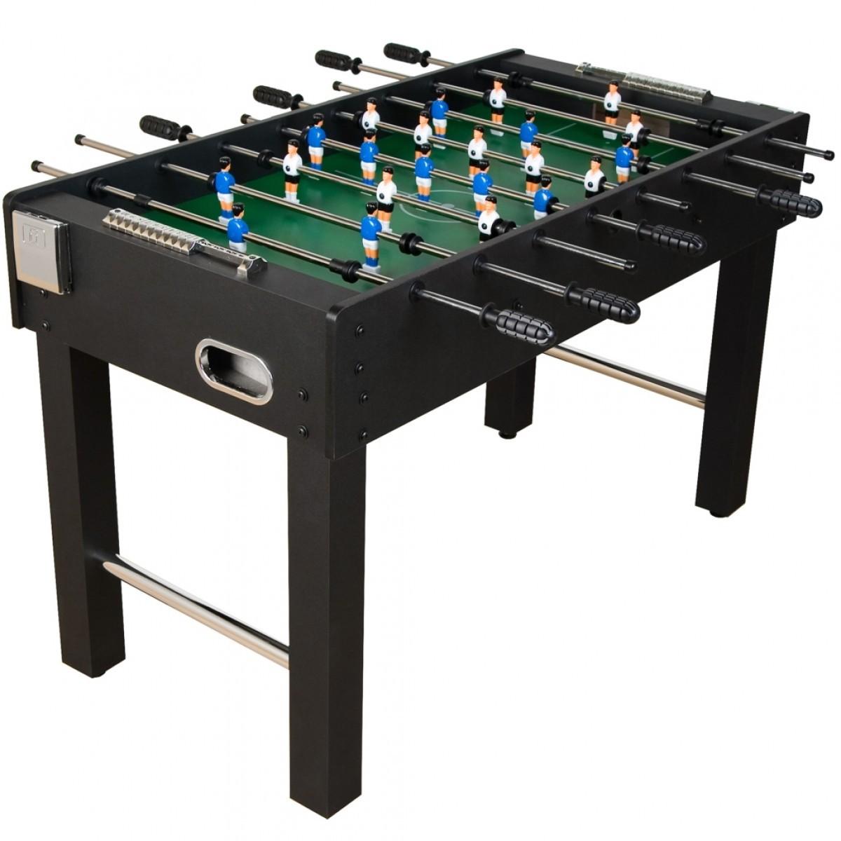 Stolní fotbal fotbálek Glasgow 121x101x79 cm | černý