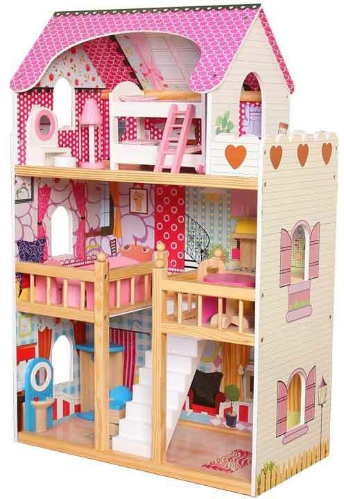 Dřevěný 3 patrový domeček pro panenky Mia Bayer Chic 2000