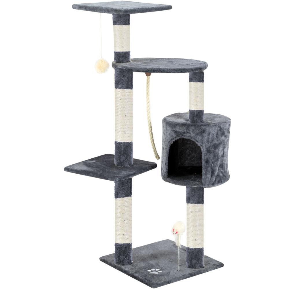 Škrabadlo pro kočky 113x75x40 cm | šedé