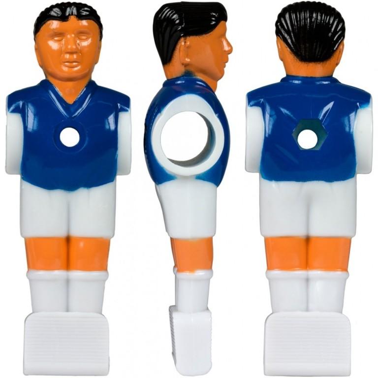 Náhradní hráč pro stolní fotbal fotbálek (na 15,9 mm tyč) modrý 3 ks