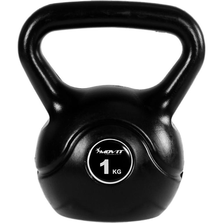 Kettlebell činka MOVIT 1 kg | černá