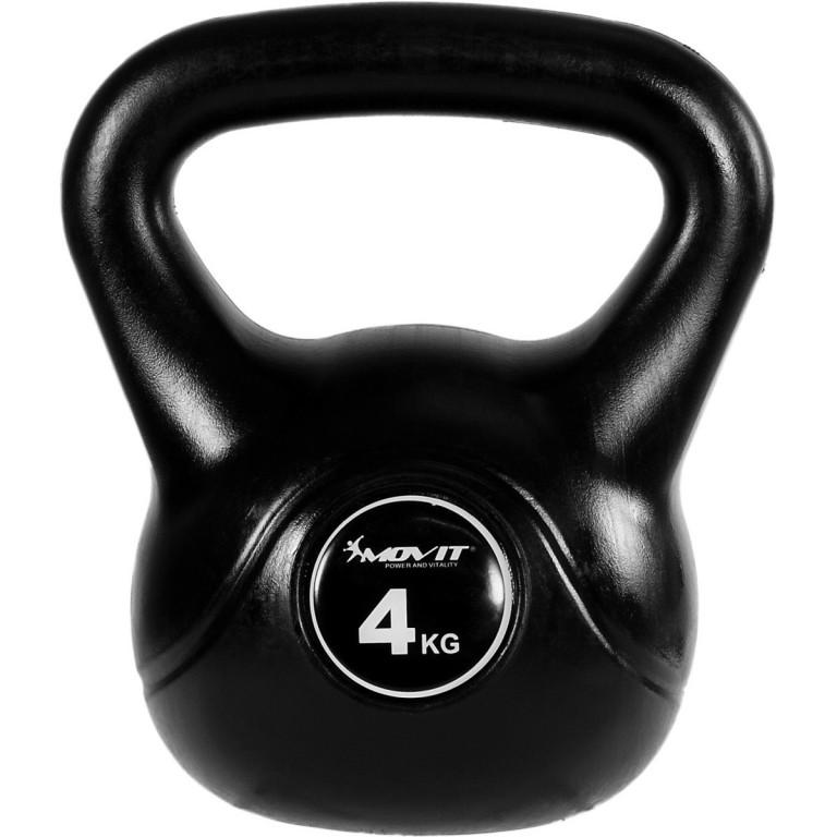 Kettlebell činka MOVIT 4 kg | černá
