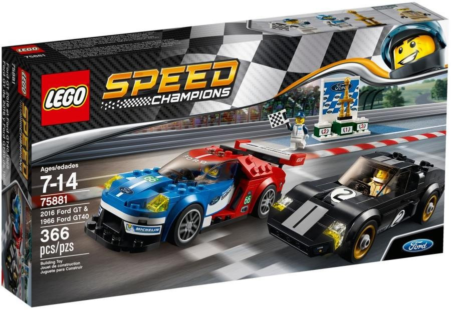 Lego LEGO Speed Champions 75881 2016 Ford GT & 1966 Ford GT40