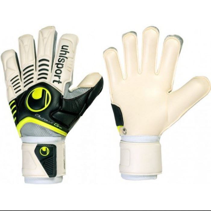 Brankářské rukavice Uhlsport Ergonomic Absolutgrip 100037901 | yellow-black-white | velikost 8,5