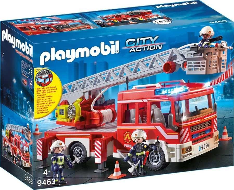Playmobil Playmobil 9463 Požární auto s výsuvných žebříkem