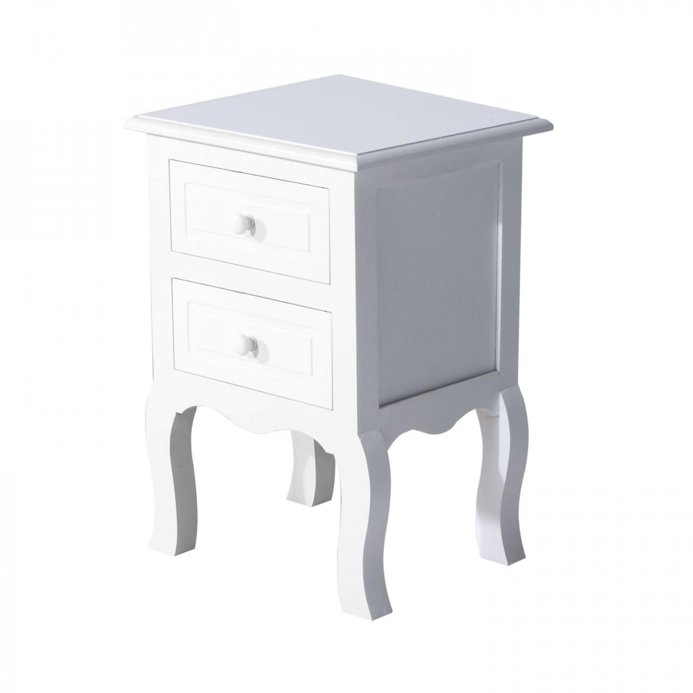 Goleto Dřevěný noční stolek Edit | bílý