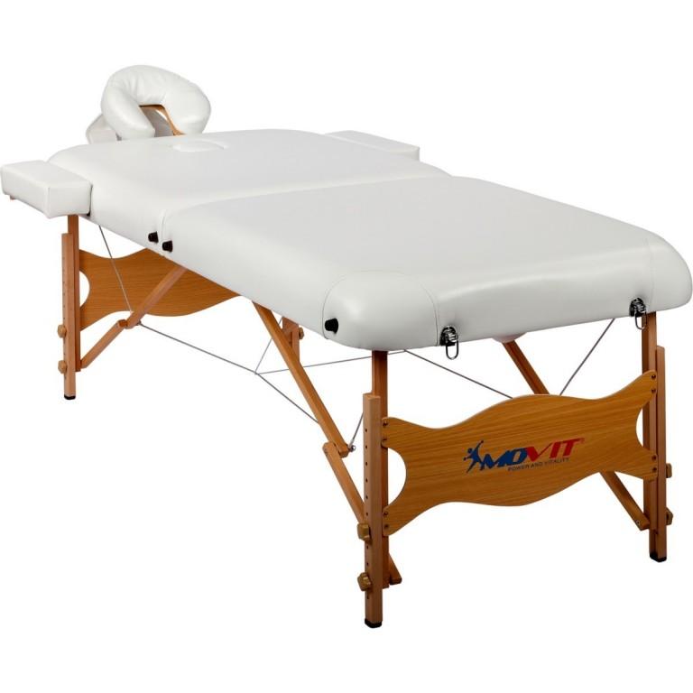 Přenosné masážní lehátko Deluxe MOVIT 185 x 80 cm, bílé