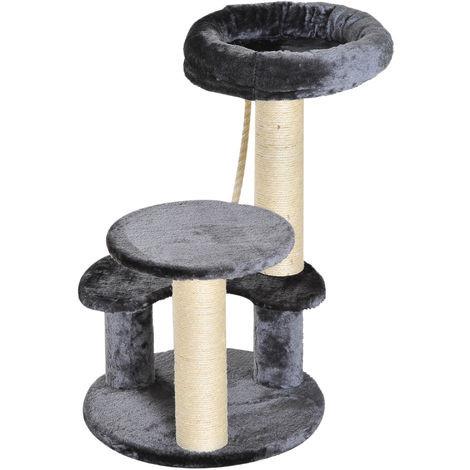 Goleto Škrabadlo pro kočky 65x40x40 cm | šedé