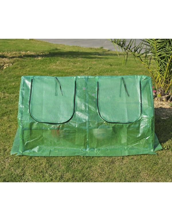 Goleto Zahradní foliovník 120 x 60 x 60 cm | zelený