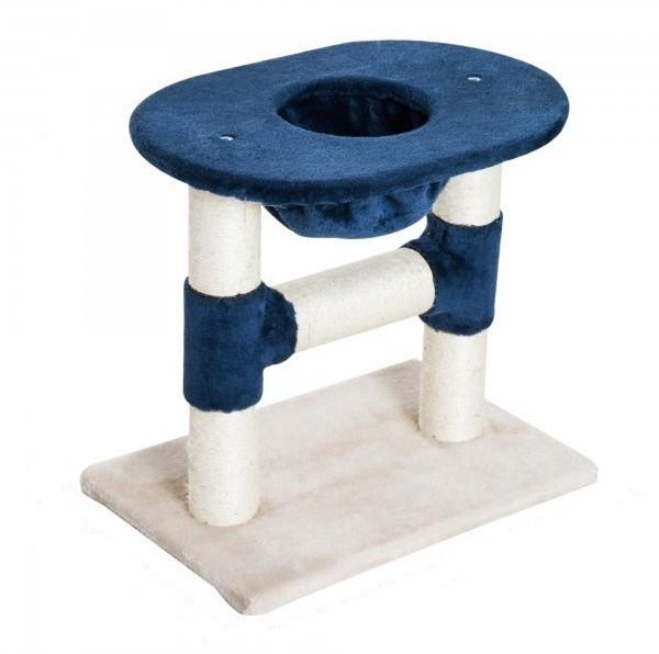 Goleto Škrabadlo pro kočky 48x50x35 cm | tmavě modré