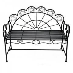 Zahradní kovová lavička | antik černá č.2