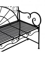 Zahradní kovová lavička | antik černá č.3