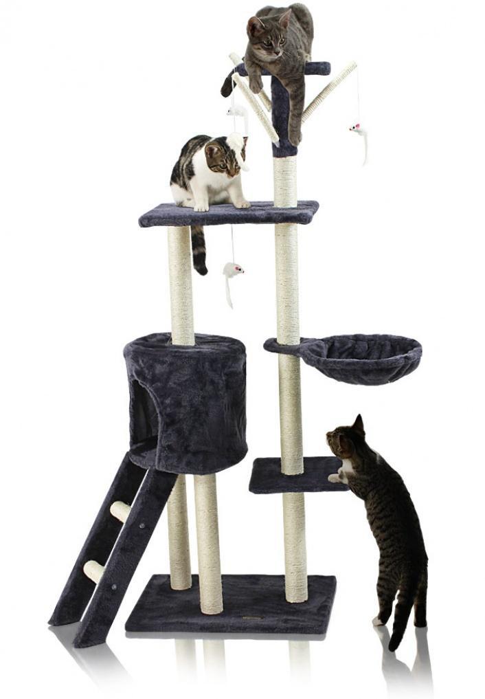 Goleto Škrabadlo pro kočky 138x55x35 cm | šedé