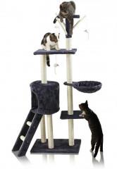 Škrabadlo pro kočky 138x55x35 cm | šedé č.1