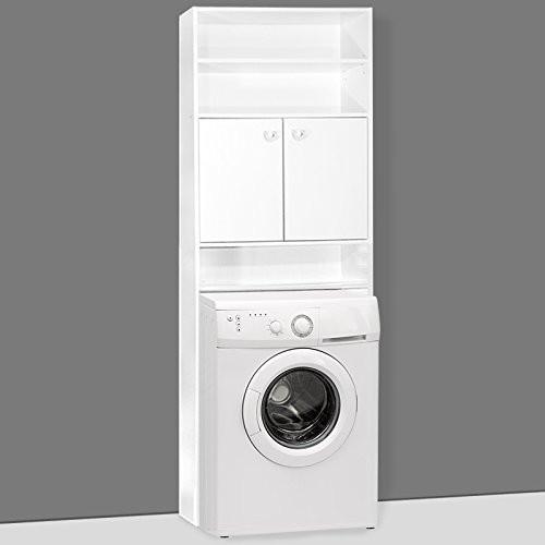 Goleto Koupelnová skříňka nad pračku | bílá
