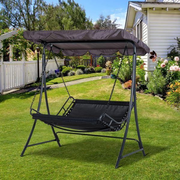 Goleto Zahradní houpačka Swing | šedá