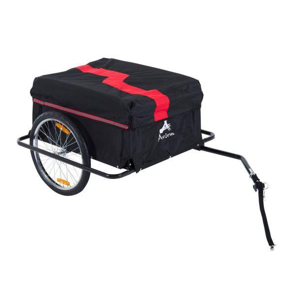 Goleto Přívěsný tažný vozík za kolo | černo-červený