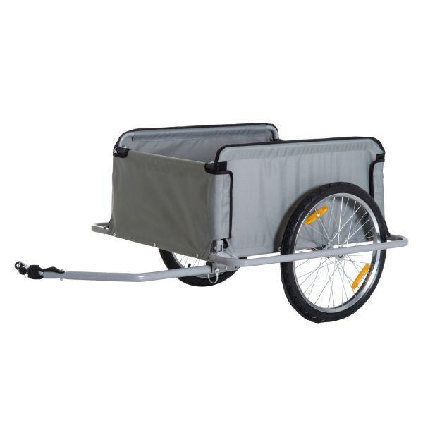 Goleto Přívěsný tažný vozík za kolo | šedý