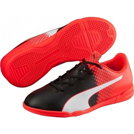 Puma Sálové chlapecké boty Puma evoSPEED 5.5 IT JR 10383201   černé-bílé-červené   velikost 37 (US 5 / UK 4)