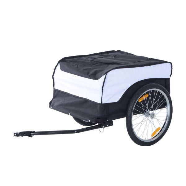 Goleto Přívěsný tažný vozík za kolo | bílo - černý
