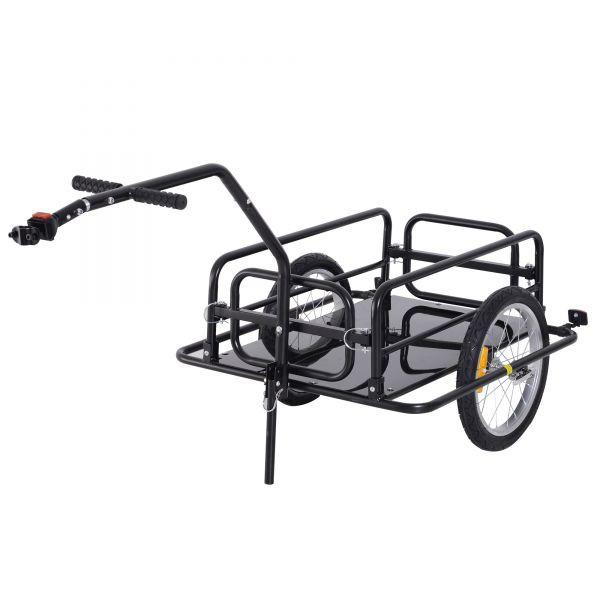 Goleto Přívěsný nákladní vozík za kolo | černý
