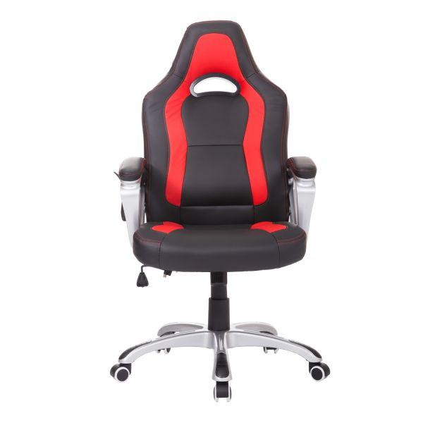 Goleto Kancelářská židle Racing s masážní funkcí a vyhříváním | černo - červená