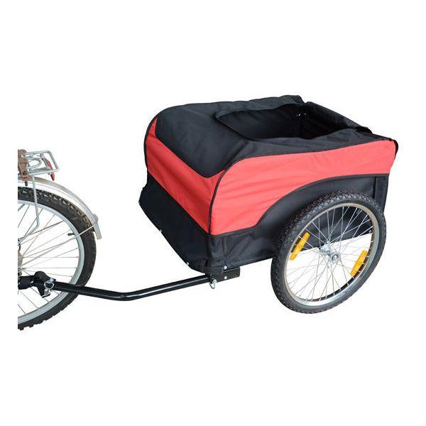 Goleto Přívěsný tažný vozík za kolo | černo - červený