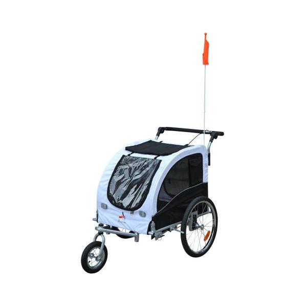 Přívěsný vozík za kolo pro psa 78 x 73 x 94 cm černo-bílý