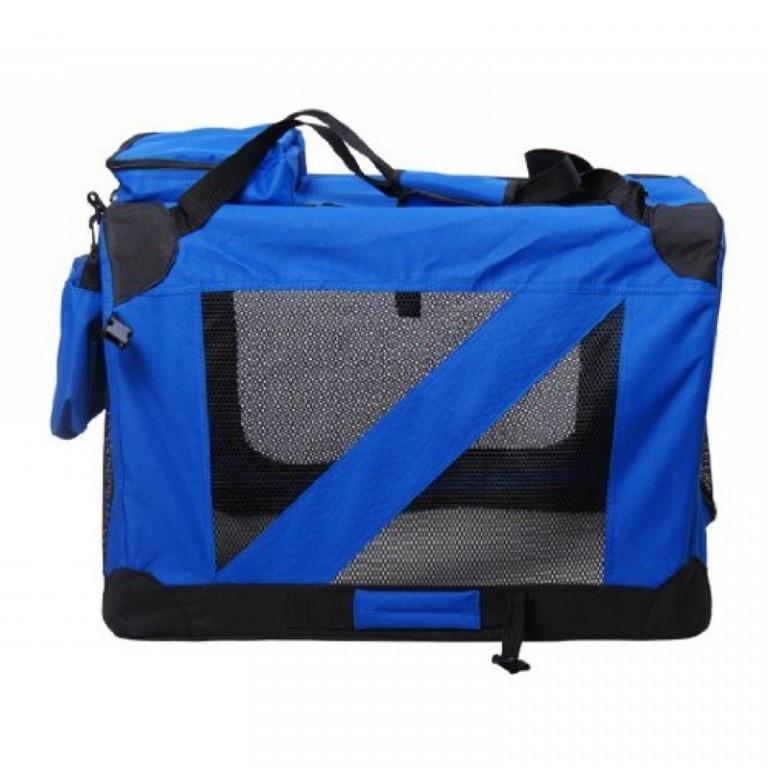 Přepravní box pro psy 70 x 52 x 52 cm | modrý